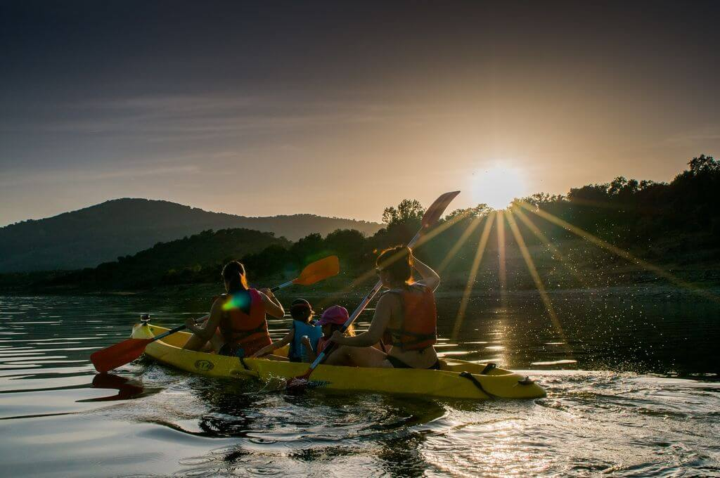 kayak y piraguas en el valle del jerte